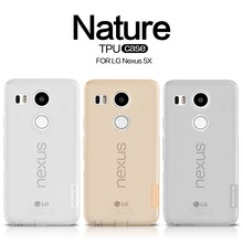 NILLKIN Ultra Thin Transparent Nature TPU Case For LG Nexus 5X, S Line Clear TPU Soft Back cover For LG Nexus 5X with package