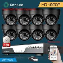 8CH CCTV System 1080P DVR 3MP 1920p SONY IMX322 In/Outdoor Video Surveillance Security Camera kit 8channel AHD usb 3g wifi 1T 2T
