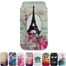 New For Aligator S5050 Duo HD IPS Case Cover pattern 9 Styles PU Leather Bag Flower Tower Cartoon Pouch Phone Cases