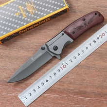 Browning DA98 Folding 3Cr15 Blade Steel + Wood Handle Outdoor Diving Knife Jungle Field Tactical Knife Survival EDC Tools(China)