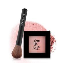 Free as love 2017 New Makeup Baking Blush With Puff Bronzer Baked Cheek Color Blusher Palette Petal Face Power(China)