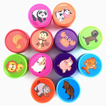 12pcs Self-ink Stamps for Boy Girls Christmas Gift Kids Party Favors Event Supplies for Birthday Party Toys(China)