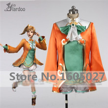 Dynasty Warriors Xiao Qiao Cosplay Anime Costume Red White Fighting Full Set Free Shipping