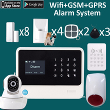 Dual network wifi gsm alarm +IP camera security system home golden security G90B set(China)