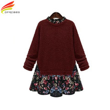 Spring Winter Dress 2017 Beautiful Dresses For Women Red And Blue Color Vintage Women's Clothing Plus Size 5XL Ladies Dresses