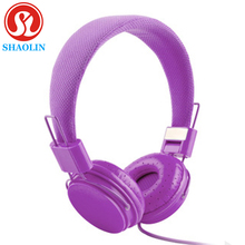 SHAOLIN Headphone New Arriving 3.5mm Cartoon Earphone Pink Headset Dj Headphone For Girls Kids With Mic High Quality