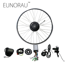 EUNORAU 48V500W electric bicycle rear cassette hub motor 20'' 26'' 28'' rim wheel Ebike motor Conversion Kit(China)