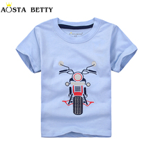 Summer Short Sleeve T-shirt Motorcycle Cotton T-shirts Baby Boy T shirt Children Boy Top Shirt  Infant Boy tshirt For 1-6 Years