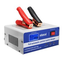 12V 24V 120AH LCD Automotive Dry Wet Battery Charger Intelligent Pulse Repair Automatic Smart Maintainer(China)