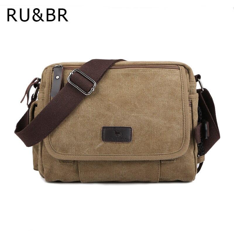 RU&amp;BR Korean Shoulder Bag Casual Mens Messenger Bags New Fashion Canvas Bags Multifunction Hot Style Men Handbags Top Quality<br><br>Aliexpress