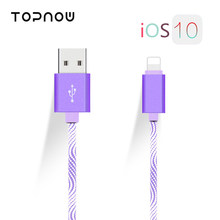 Topnow Symphony Nylon Fast USB Charging Cable for iPhone 5 5s USB Cable Charger for iPhone 6 6s 7plus iPad iPod Power Wire Cord