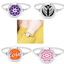 Buy 316L Stainless Steel Essential Oil Aromatherapy Locket Perfume Diffuser Locket Bracelets Fashion Jewelry Free 10pcs Pads Random for $3.99 in AliExpress store