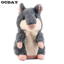 Hot OCDAY Lovely Talking Hamster Plush Toy Cute Speak Talking Sound Record Hamster Talking Toys for Children Birthday Xmas Gift(China)