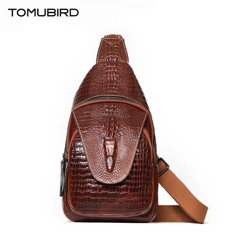 2017 New luxury women bag designer genuine leather bag chest pockets female  bag alligator grain leather backpack<br><br>Aliexpress