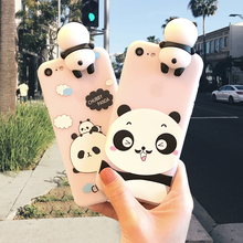 3D Cute Cartoon China Panda Bears Fundas Case for iPhone 6 6S 7 Plus 5 5S 5SE Cases Soft Silicone Case Back Cover Fundas