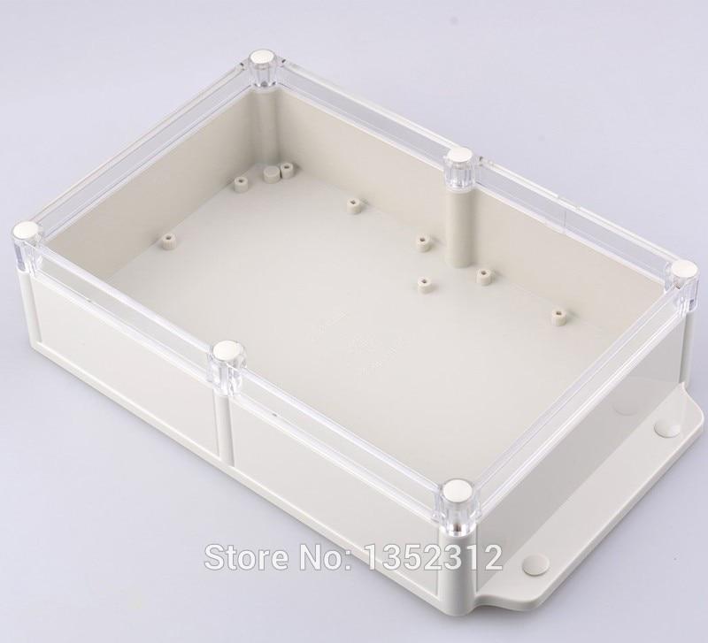 1 pcs 283*165*66mm IP68 waterproof plastic box for electronics wall mount plastic amplifier enclosure abs PLC instrument box<br><br>Aliexpress