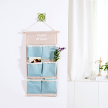 Cotton Bag multilayer wall hanging debris storage pocket after the cloth pouch wall door finishing bags(China)