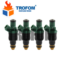 Top Racing fuel injector Engine using For Bosch EV1 Volvo vw Audi GMC Chevrolet Dodge BMW 440cc/min TURBO 42 LB/HR 0280150558(China)
