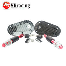 VR RACING - D1 New Universal Racing Lock Plus Flush Hood Latch Pin Kit, Carbon Fiber, JDM style with key VR-BPK-D41(China)