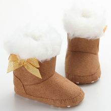 Now Hot Winter Children Shoes Baby Warm Snow Boots Infant Shoes Antiskid Super Warm Baby  Cotton Shoes First Walkers 0-18M