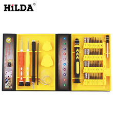 HILDA 38 in 1 Precision Multipurpose Screwdriver Set Repair Tool Kit Fix For Cell Phone IPhone For Notebook Hand Tools Sets kits