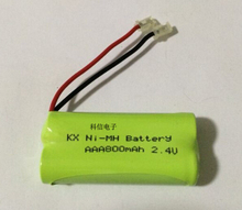2PACK/LOT Brand New Ni-MH AAA 2.4V 800mAh Ni MH Battery Rechargeable Batteries Pack With Plugs For Cordless Phone