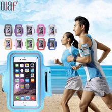 Outdoor Sports Waterproof Waist Phone Bags Screen Touch arm bands Phone Case Pouch For iPhone 5 5S 6 6S 7 Plus Under 5.5 Inch(China)