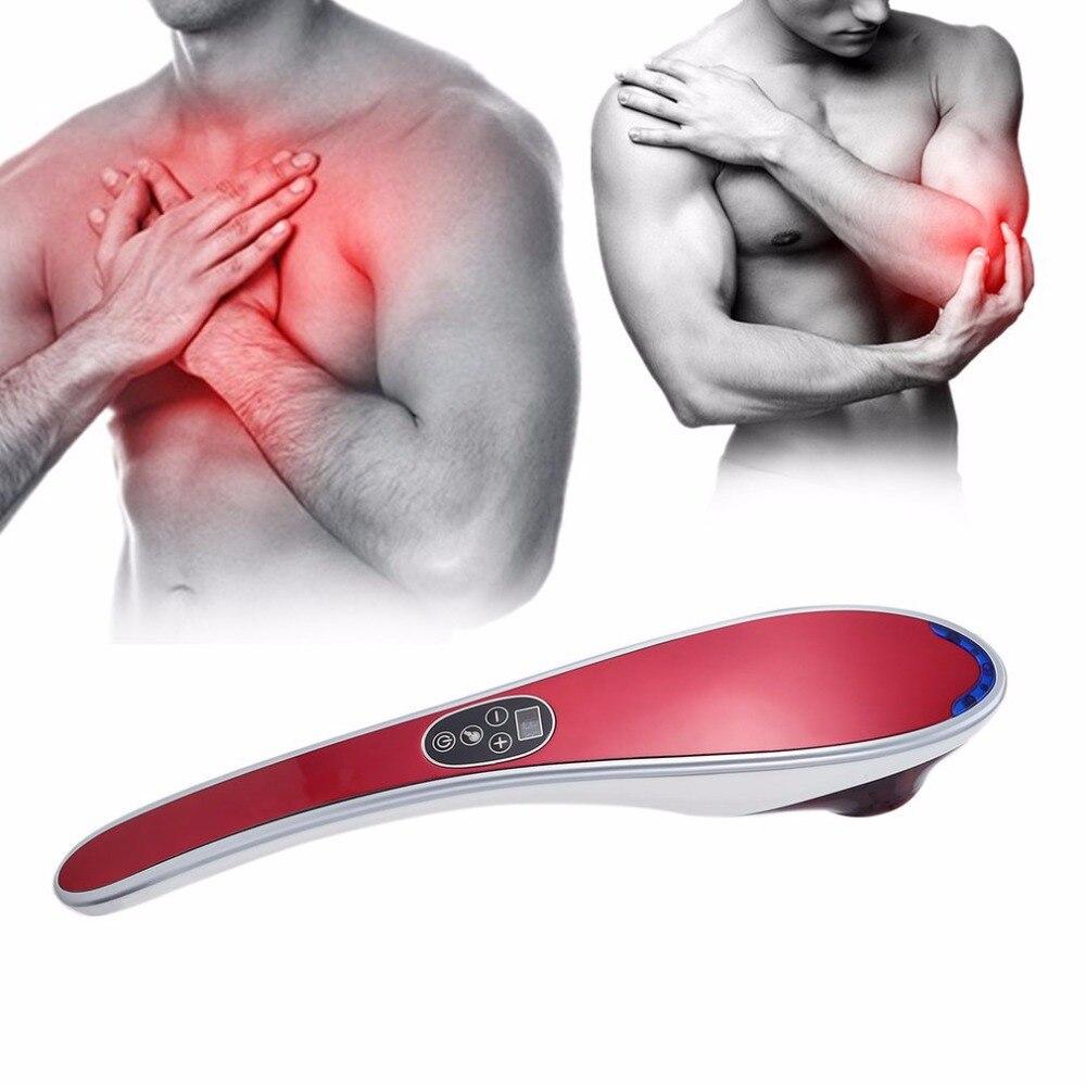 Electric Cervical Vertebra Massager Vibrating Kneading Shoulder Back Neck Massager Infrared Massage Body Relaxation EU Plug<br>