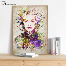 Marilyn Monroe Minimalist Art Canvas Poster Painting Watercolor Movie Star Picture Print Home Living Room Wall Decoration