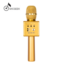 MICGEEK I6 Karaoke Condenser Microphone Bluetooth Wireless Voice Change Microphones Built-in Dual Speaker For iPhone PC Laptop(China)
