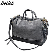 Bolish  New Arrive Women Shoulder Bag Nubuck Leather Vintage Messenger Bag Motorcycle Crossbody Bags Women Bag