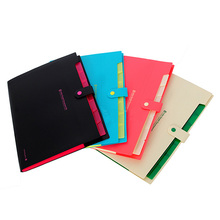 Kicute New Waterproof Book A4 Paper File Folder Bag Accordion Style Design Document Rectangle Office Home School Color Random