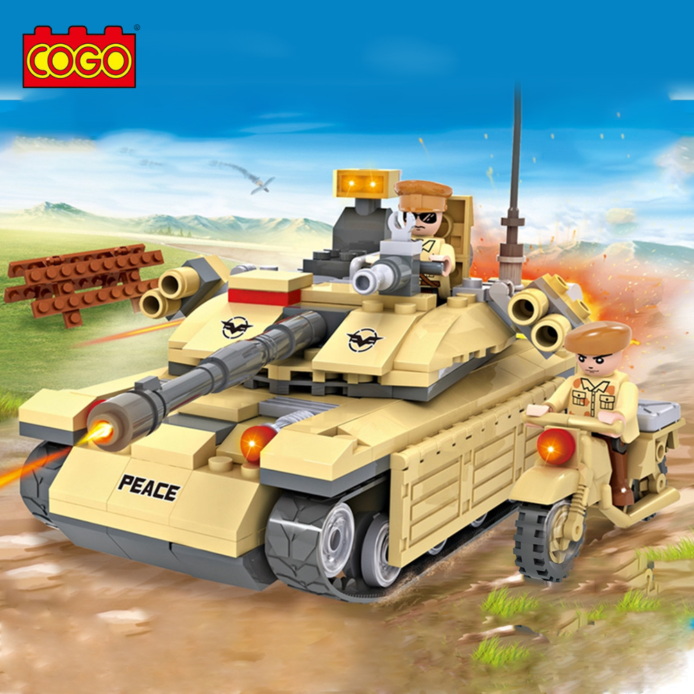 278PCS COGO Military Army Tank Model Building Brick Block Toys Educational DIY Set Christmas/Birthday Gift Toys for Children(China)