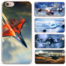 "Soft TPU Case Cover For Iphone 7 4.7""Fighter Propeller Plane Aircraft Airplane Cases For Iphone 5 5S SE 6 6s Plus Phone Coque"