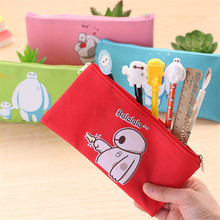 BIG HERO 6 The Baymax pencil case for girls boys school stationery student pencil Bag London Oxford Cloth pencil bag W2.1(China)