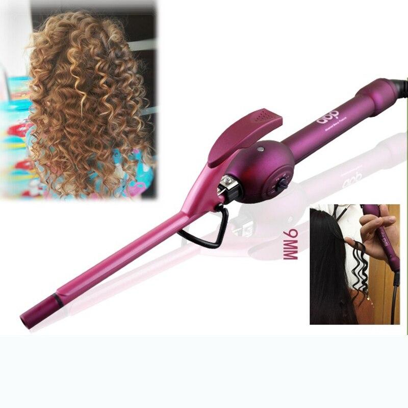 9 мм щипцы для завивки волос бигуди профессиональные волос curl утюги керлинг палочка ролика rulos krultang магия красоты инструменты для укладки(China)