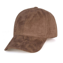 Unisex Spring Summer Adjustable Artificial Suede Baseball Cap Hat Solid Color Hats