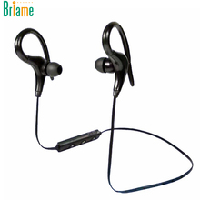 Briame 2017 Stereo Ear Hook Bluetooth Earphone Wireless Sport Headphone Headsets With Micphone Handsfree for iPhone Samsung(China)