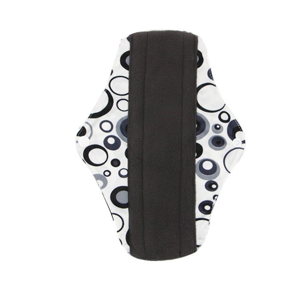 New Reusable Bamboo Charocoal Washable Menstrual Pad Mama Sanitary Towel Pad Practical Feminine Hygiene Product 1pc Pretty 25