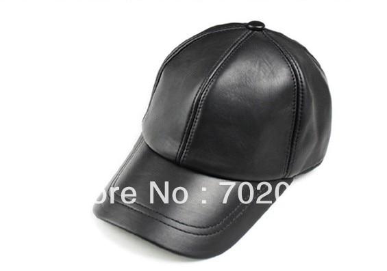 Unisex Fashion real leather Baseball CAP Ball Cap sheepskin Leather hat Stylish Baseball Ball Cap hats #3096<br><br>Aliexpress