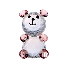 Unique 2.3'' Pink Bear Figurines Animal  Paperweight Crafts Art&Collection Ornaments Souvenir Car Table Home Wedding Decoration