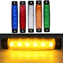 2pcs 6LED Car Truck Trailer Rear Tail Stop Turn Light Indicator Lamp 12V Indicator Led Light Bulb(China)