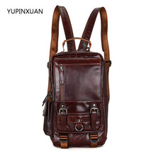YUPINXUAN Genuine Leather Backpack Women Bags Real leather Vintage Backpacks Female School Bag Casual Travel Back Packs Russian - YUXUANFASHION BAGS Store store