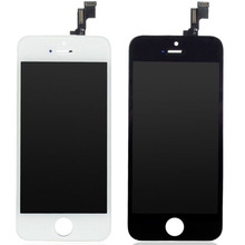 AAA+++ NEW For iPhone 5S LCD Display Touch Screen Digitizer with Bezel Frame Full Assembly Free Shipping+Tracking No WHITE BLACK