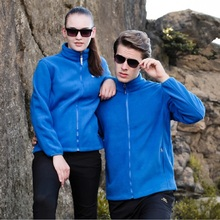 Outdoor Man and Women Fleece Jacket Autumn and WinterHiking Clothing Thicken Thermal Keep Warm Windbreaker Hiking Jacket