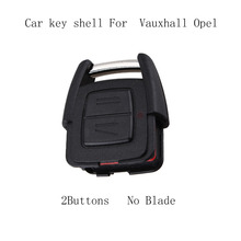 2 Buttons Remote Car Key Shell for Vauxhall Opel Astra Zafira Omega Vectra No Chip Uncut Blade Car Key Case Flip Fob Car Cover(China)