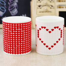 I Love You Magic Color Change Ceramic Morning Mug Birthday Fashion Gift Hot Cold Water Color-Changeing Free Shipping SH17(China)