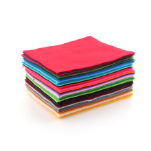 Soft Polyester Nonwoven Felt Fabric For DIY Handicraft Hat Bags Dolls Dress Home Textile 1.5mm Thickness 15*15cm RF-42-1