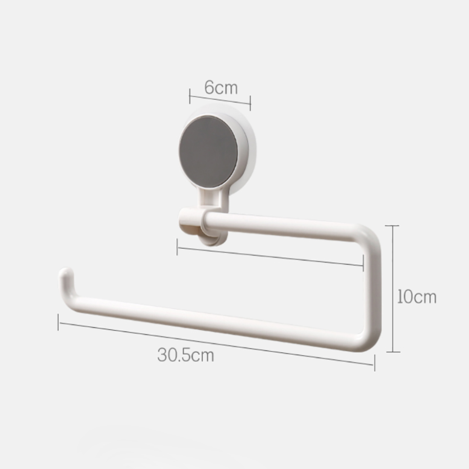 Tissue Shelf Suction Cup Wall-mounted Holder Punch Free For Bathroom Kitchen Hanging Towel Plastic Wrap and Daily Supplies 3