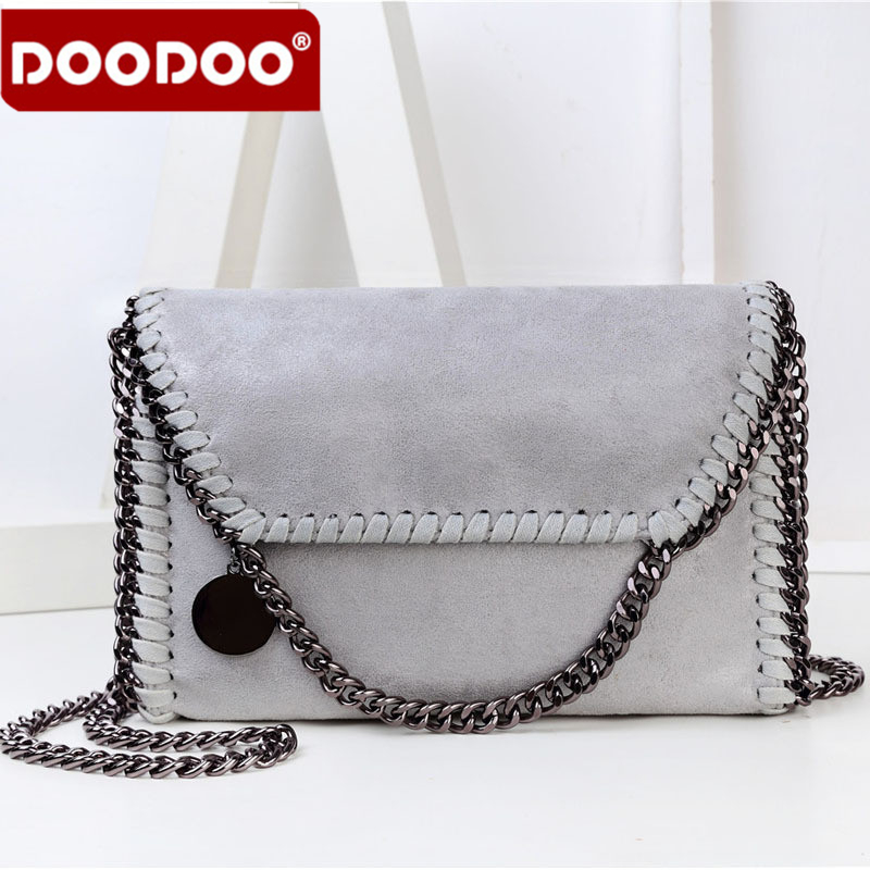 DOODOO Women Messenger Bag Soft PU High Quality Solid Versatile Casual C*C Channel Luxury Design Bags Exquisite Design<br>